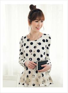 黑白圆点小短裙