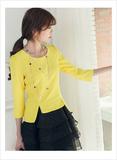黄黑连衣裙